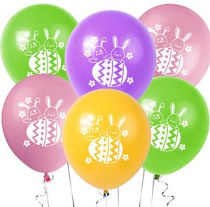 12 pouces Pâques Bunny Lapin Ballon de latex Happy Pâques Bannière Pâques Mur Hanging Guirlande Enfants Parti d'anniversaire Fournitures Décoration de Pâques