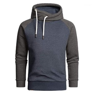 Mens Fashion Contrast Color Mens Hoodie Panelled Designer Mens Long Sleeve Sweatshirts 21FW Warm Clothing for