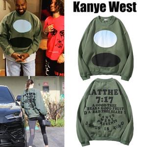 Kanye West Kanye Limited Jesús es King Foam carta jersey suéter suelto hombres y mujeres tendencias