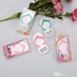 100PCS Personalized Flip Flop Bottle Opener Customized Wedding Bottler Openers in Gift Box Bridal Shower Favors LX8811