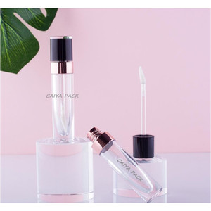 Wholesale High Quality 6ml Cosmetic Pink Purple White Black Clear Empty Lipgloss Tubes Lip Gloss T bbyQpv lg2010