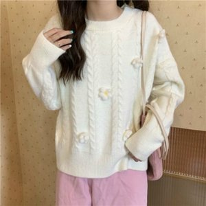 women's 2021 New jerseys long sleeve mesh-neck sweet flowers lovely pullovers elegant fashion sweater y499 MAX9