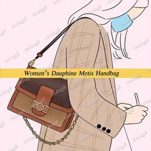 Livraison gratuite Mode Dauphine Métis Sacs à main, sac en cuir véritable femmes Designer MM Sac à bandoulière 44391