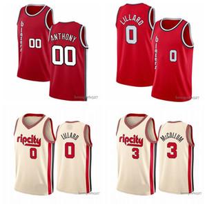 Erkekler PortlandİzBlazersJersey 0 Damian Lillard C.J. 3 McCollum Clyde 22 Drexler 00 Basketbol Şort Basketbol Forması