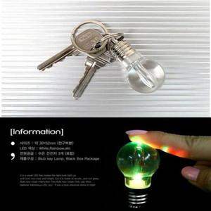 Lâmpada Keychain Luz LED Keychains Tocha Keyring Colorido Lanterna Arco-íris Color Chaveiro Bulbo Colar Lutador Não Quebrado Bulbo DWD2755