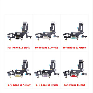 USB Charging Port dock Flex cable For iphone 11 Charger plug module Connector Ribbon Replacement parts