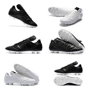 Mens Copa Mundial Leather FG Calcio Scarpe Sconto SCONTORE CALCE CALCE 2015 Boots Coppa del Mondo Boots Taglia 39-45 Black Biancone Botines Futbol