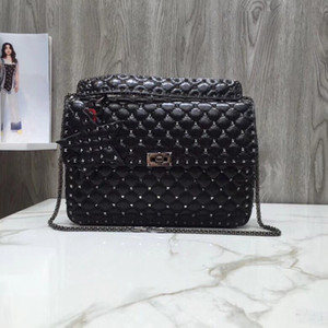 2021 Новый стиль женские сумки из мягкой смолы коровьей ромбодиодных вышивкой 0121 тонкое ремесло и миниатюрная заклепка монтажная съемная цепь Tarot