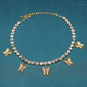 Sparking Fully Crystal Pave Butterfly Bracelet Gold Rhinestone Charms Butterfly Bracelet Women Fashion Jewelry1