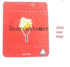 Wonderbrett Smell sacos Edibles Mylar 10x12.4cm sacos Medicated Strawberry Proof Bliss Local YXLBN FFShop D2021