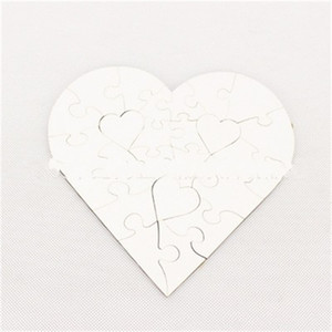 Wholesale Heart Shaped Jigsaw Puzzle Wooden Blank Sublimation MDF Jigsaw Puzzles Children Toys Birthday Gift Popular Product 10 5bdH1