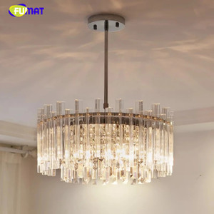 FUMAT Modern Round LED Light Chandelier Luxury Clear Crystal Lampshade Lamp For Living Room Lighting Chandeliers Ceiling Fixtures