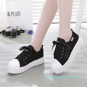 sSneakers Women Fashion Breathable Platform Casual shoes dropshing Lace Leisure flat white canvas Women's Vulcanize Shoes t02 01s