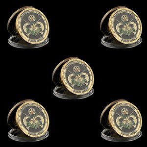 5PCS United States Army Special Forces Faithful and True Green Berets Liberty Freedom Coin Collection