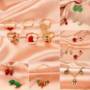 brincos New Natal brincos definir a forma das mulheres criativas earnails presente da árvore de Natal de Bell requintados terno