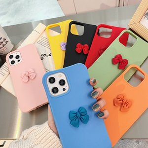 Slim Shockproof Soft TPU Case For IPhone 12 MINI 11 PRO MAX X XS XR SE2 8 7 PLUS 6 6S Cute 3D Bowknot Protective Phone Cover Back Luxury
