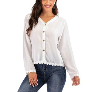 Fashion Personality V-neck Long-sleeved Shirts