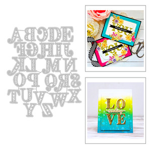 2020 New Hot English Capital Sentiment Alphabet Word Mould Metal Cutting Dies For and Scrapbooking Foil Card Making no stamps 1019
