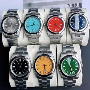 2021 homens mais novos homens relógios relógios 7 cores auto enrolamento relógios automáticos movimento mecânico aço inoxidável relógios de pulso