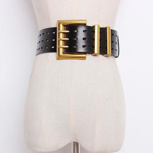Ceinture de corset de corset plus Courroies de concepteur pour femmes de haute qualité cuir véritable Tout match de taille Cummerbunds large Cinturon Mujer