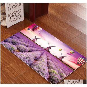 Kit de mousse de mousse de salle de bain imprimée 3D Kit de tapis de bain antidérapant Tapis de plancher Tapis de plancher de la taille de grande taille SEAT SEAT SEAT MATTRES QYLDJH HotClpper