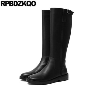 fur block riding boots casual fall winter equestrian shoes women 2020 knee high long tall chunky comfortable black