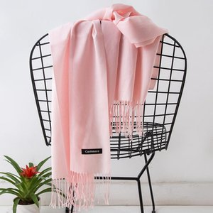 Sciarpa Coreana Donne autunno inverno inverno Pure Color Cashmere-Like Assessuale calore lungo All-Match Scialle Tassel Semplice Schal Nuovo