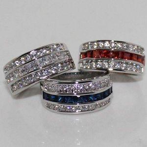 Victoria Wieck princesa homens moda jóias 10kt ouro branco cheia de safirerubytopaz cz diamond gemstones partido popula 53 l2