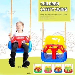 Outdoor 3 In 1 High Back Toddler Baby Swing Set Children Full Bucket Seat Swing For Outside Playground Park 1018