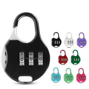Mini Padlock For Backpack Suitcase Stationery Password Lock Student Children Outdoor Travel GYM Locker Security Metal LLS701