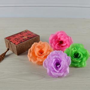 fiori artificiali 8cm di Natale rosa fiore del panno di seta di alta qualità dei fiori stile muro rosa decorazione wedding la testa a casa e la decorazione di compleanno