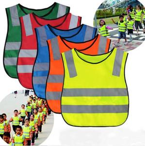 Seguridad Niños ropa Studen chaleco reflectante niños Prueba chalecos de alta visibilidad de advertencia remiendo chaleco de seguridad Instrumento de construcción AHB2274