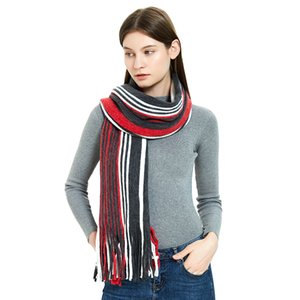 Fashion Autumn winter stripes tassel scarf women men long warm Scarves neck Shawls Wraps fashion will and sandy gift