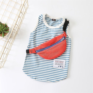 Fashion Dog Clothes Striped Pet Shirt Puppy Outfit Summer Dog Tshirt Spring Pets Clothing For Small Dogs Chihuahua Ropa Perro 201109