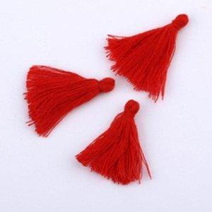 100 unid 3 cm Mini algodón Tela Tela Tassel DIY Joyería Pulsera Pulsera Clave Making Fringe Adorn Craft Barbas Accesorios de costura H WMTTTF