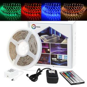 LED Strip Light 5M 44keys IR Remote RGB SMD 2835 3014 5050 300Leds 12V Waterproof Flexible Color Changing Kit for Home, Bedroom, Kitchen