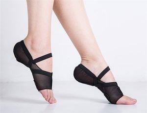 das mulheres de corpo inteiro malha estiramento Lyrical sapatos de baile Latin Salsa Jazz prática de dança Pads Senhoras Sports