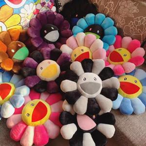 A001 New 60cm Kawaii Murakami Sunflower Pillow Soft Flower Stuffed Doll Kaikai Kiki Colorful Plush Toy Cushion Gift Y200723