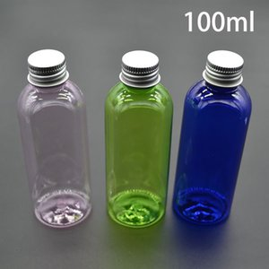 100ml Plastic Empty Pink Green Blue Bottle for Cosmetic Essential Oil Container Lotion Cream Packaging Bottles Free Shipping