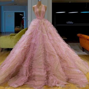 Princess Puffy Long Prom Dresses Tiered 2021 Evening Party Gowns Arabic Dubai Pageant Prom Dress elegant Formal 16 quinceanera dresses