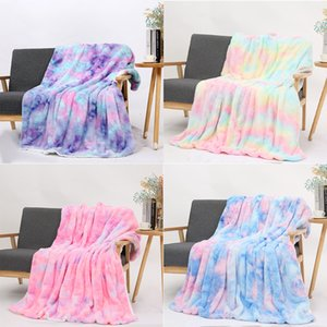 Rainbow tie-dye parties blanket blanket blanket cotton velveteen rabbit small couch blankets double thick lazy digital printing