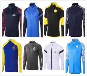 Real Madrid jaqueta 2020 Outono Inverno Clube alta qualidade jaqueta de futebol completo zipper agasalho 2020 2021 Mbappé PERIGO homens futebol agasalho
