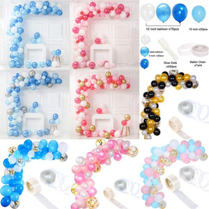 143pcs Balloons Garland Baby Shower Boy Girl Decorations First Birthday Party Supplies Wedding Bachelorette Valentines Day Decor T200827