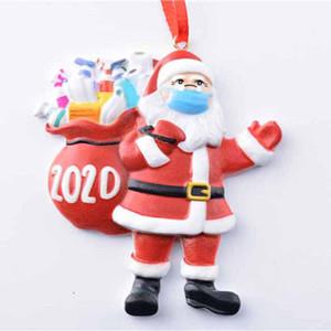Santa Claus Hard resin Christmas Ornaments Customized DIY Gift Hang Decoration
