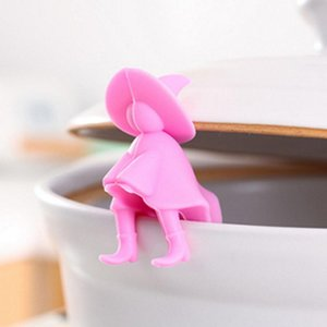 Small Witch Anti -Overflowing Holder Pot Lid Holder For Pot Cover Spill -Proof Stand Kitchen Supplies Tool
