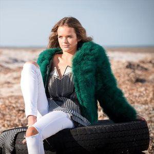 Ostrich wool fur plus size women feather winter jackets large size women autumn coat XS,2XL,3XL,4XL,5XL,6XL,7XL Fluffy Outerwear