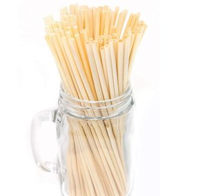 20cm Natural Wheat Drinking Straws Biodegradable Plant Straw No Plastic Policy Single-use Disposable Biodegradable Compostable Wheat Straws