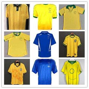 레트로 브라질 축구 유니폼 Roviodo Romario Ronaldo Ronaldinho 빈티지 클래식 축구 Kit1957 1970 1988 1994 1998 2000 2002 2004 2006