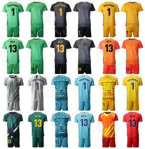حارس مرمى الرجال GK Soccer 1 Marc Andre Ter Stegen Jersey Set Team Club Team 13 Neto اسم Custom Number Number