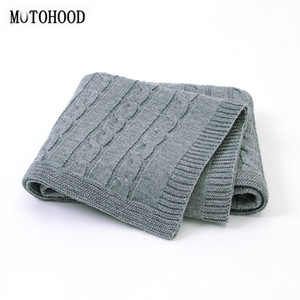 MOTOHOOD Baby Blanket Knitted Woolen Newborn Blankets Super Soft Wrap Infant Swaddle Kids Stuff For Monthly Toddler Bedding 201110